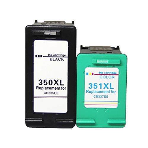XIAOFANG Fangxia Store 4PK 350XL 351XL Cartucho de Tinta Cable de reemplazo para HP 350 351 FIT para HP350 D4200 C4480 C4580 C4380 C4400 C4580 C5280 C5200 C5240 Impresora (Color : 2BK 2COLOR)