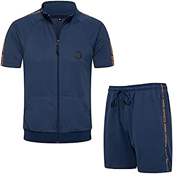 Men's 2-Piece Sports Sets T-Shirts & Shorts Jogging Track Suit