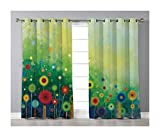 Goods247 Blackout Curtains,Grommets Panels Printed Curtains Living Room (Set of 2 Panels,42 84 Inch Length),Watercolor Flower Home Decor
