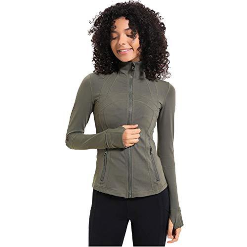 LDDOTR Damen Trainingsjacke Laufjacke Trainingsjacke Daumenlöcher Mit Durchgehendem Reißverschluss Slim Fit Damen Trainingsjacke,B,S