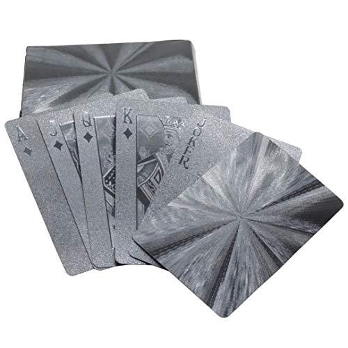 トランプ 黄金 黒 ゴージャス カード プラスチック 豪華 ポーカー カジノ 手品 マジック 大富豪 パーティー テーブル ゲーム (ブラック/フォーカス) PR-PLAYCARD-BKFO