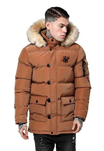 Sik Silk Cazadora Shiny Puff Parka Marron Hombre XL marrón