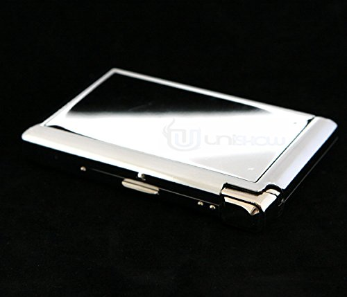 GStar Stainless Steel Cigarette Case w/Built-in Lighter 61361