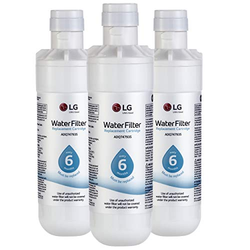 LG LT1000P3 6-Month / 200 Gallon Refrigerator Replacement Water Filter, 3, White