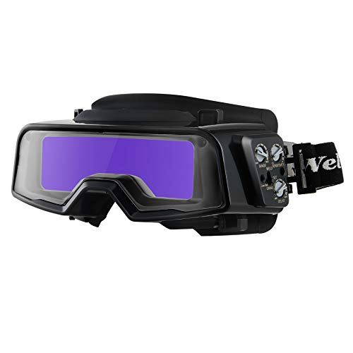 Orion Motor Tech Auto Darkening Welding Goggles with 2 Arc Sensors & Face Shield, Welder Face Mask with Eye Shield, Self Tinting Welding Helmet for TIG MIG Plasma Arc Welding Cutting Grinding, Black