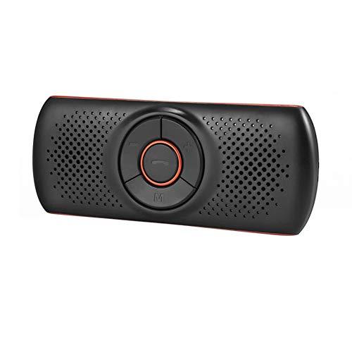 Wireless Bluetooth Car Kit Set Handsfree Speakerphone Multipoint Sun Visor Speaker For Phone Smartphones Car Bluetooth (Orange)