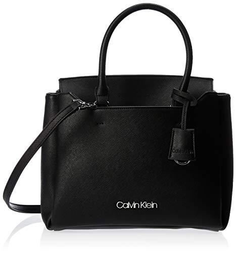 Calvin Klein Women's Worked Sml Tote Tote Black (Black), 12x24x28 cm (W x H x L)