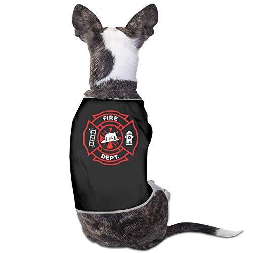 Florasun Distred Firefighter - Vestiti per cani e gatti di piccola taglia
