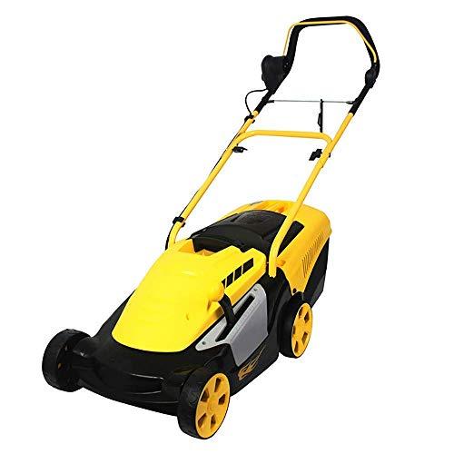 MYPNB Cortadora de césped eléctrica, Empuje hogar cortadora de césped, Ajuste de 6 velocidades, Ancho de Corte 34 cm (Size : 40Mpowercord)