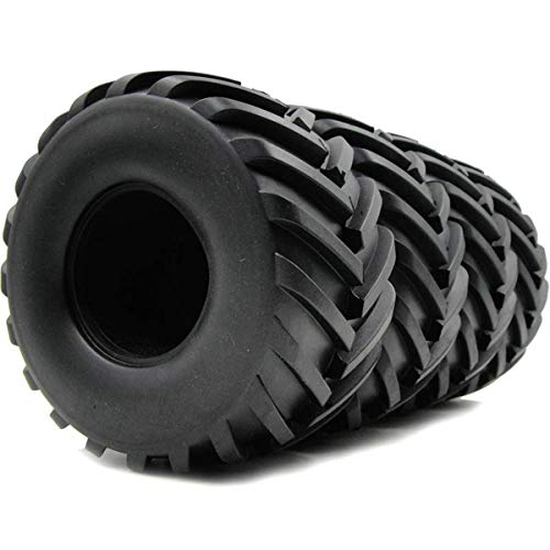 hobbysoul 4Stk RC 2.2 LKW Badland Monster Traktor Reifen Höhe (OD):ca.130mm (5,12 Zoll) für RC 2.2 Felgen