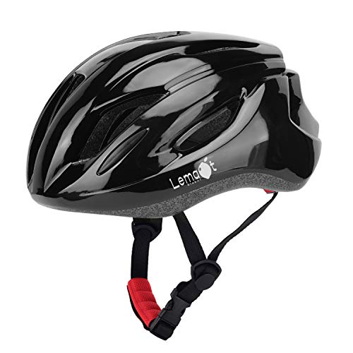 Lemaot Bike Helmets for Adults Lightweight 14 Vents Dial Fit System CPSC Certified Bicycle, Road Cycling Helmet Mountain Bike Helmets Bicycle Helmets for Men and Women(Black)