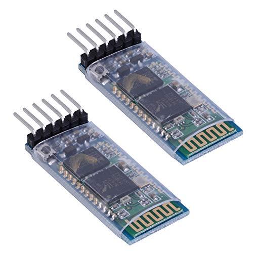 Bestgle HC-05 6 Pin Wireless Bluetooth RF Transceiver Module for Arduino BT Serial Pass-Through Module, 2 Pack