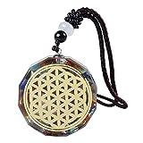 Oshhni Collar con Colgante de orgonita de, joyería Colgante de Yoga, Regalo de colección de Herramientas para Dormir Mejor - C