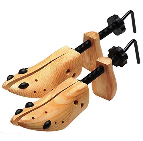 Swvzwy One Pair 2-Way Wooden Adjustable Shoe Stretcher for Men Women Size 9-13 BS US - RK133