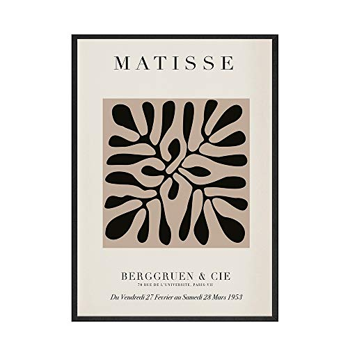 Pster de geometra de curva abstracta pintura de Matisse sobre lienzo pster de estilo colorido pintura de lienzo sin marco familiar D 60x80cm
