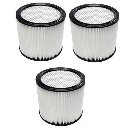 HAOKE Paquete de 3 filtros de cartucho de repuesto para aspiradoras 90304/90350/903-04-00 5 galones hasta aspiradoras húmedas/secas