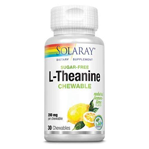 Solaray L-Theanine Chewable Supplement