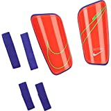 NIKE NK Merc HRDSHL GRD Shin Guards, Bright Crimson/Rage Green/(Silver), S Unisex-Adult