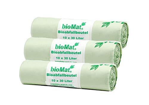 10 pezzi Biomat 40-60 l 61 x 80 cm Sacchetti biodegradabili compostabili