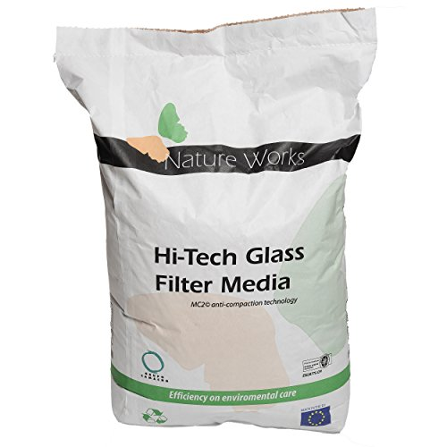 Verre filtrant Hi-Tech de Nature Works (20 kg) pour les installations de filtration par sable pour piscines, en verre naturel, cristallin, alternative écologique au sable, grain Ø : 0,8 mm