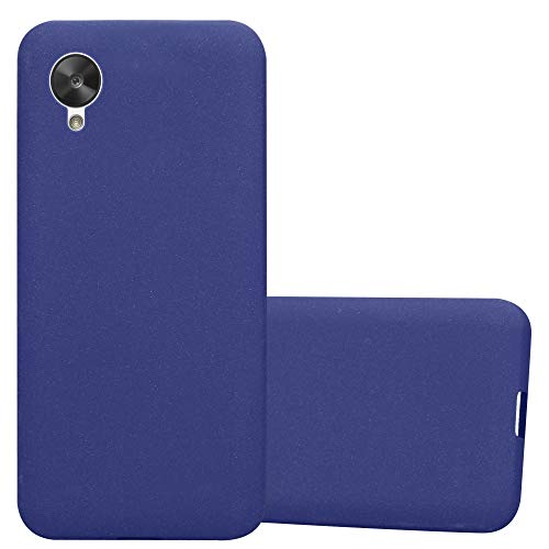 Cadorabo Custodia per LG Nexus 5 in Frost Blu Scuro - Morbida Cover Protettiva Sottile di Silicone TPU con Bordo Protezione - Ultra Slim Case Antiurto Gel Back Bumper Guscio
