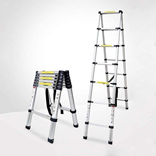 MGCD Step Ladder,Portable A-Frame Ladder Multi-Purpose Aluminium Telescopic Folding Ladder (Color : 4.4m-ATypeLadder)