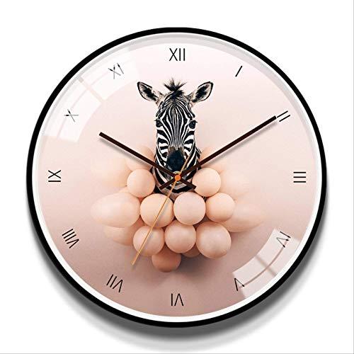 orologio da parete zebrato Zebra Orologio Da Parete Silenzioso Rotondo