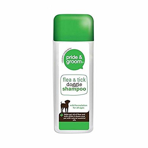 Pride & Groom Dog Puppy Fur Hair Conditioning Shampoo Natural Oils Flea Tick Repellent - 300ml - Flea & Tick