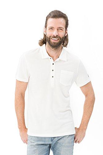 super.natural Herren Piqué Polo Shirt, Mit Merinowolle, M COMFORT PIQUET POLO, M, Weiß