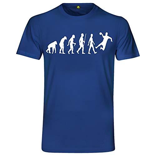 Evolution Handball T-Shirt | Handballer | Handballspiel | Sport | Werfen Blau S