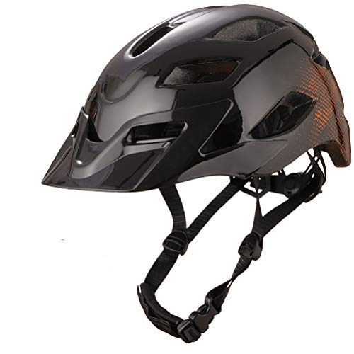 Oyria Casco de ciclismo para bicicleta de montaña, ajustable, con luz trasera, casco de seguridad para hombres y mujeres
