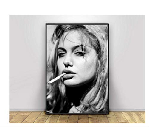 ysldtty Smoking Girl Hübsche Sexy Frau Bulletin Board Print Wohnzimmer Wohnkultur Leinwand Wandkunst Bild A1B777 Rahmenlos 40cmx60cm