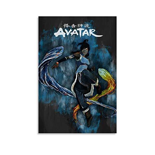 diannao Kunstdruck auf Leinwand, Motiv Avatar die Legende von Kora, modernes Design, 20 x 30 cm
