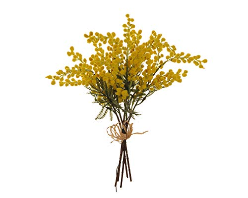 Zelda Mimosa - Ramo de 5 Tallos, 42 cm, Flores Artificiales, decoración para Regalo de Fiesta de Mujer