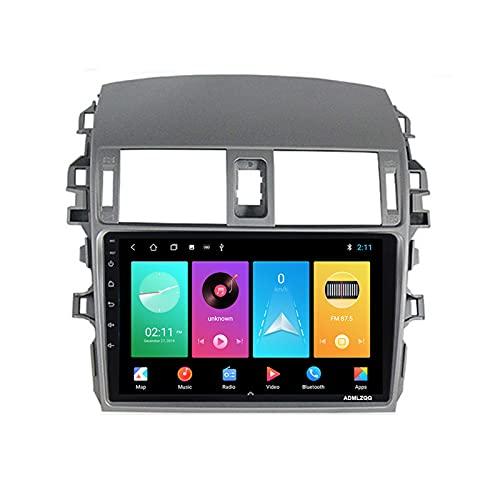 ADMLZQQ para Toyota Corolla 2006-2013 Android 9.0 Radio Coche Navegación GPS, Estéreo De Audio De 9 Pulgadas, FM/Bluetooth/Controles del Volante/Cámara De Visión Trasera,WiFi: 2+32g