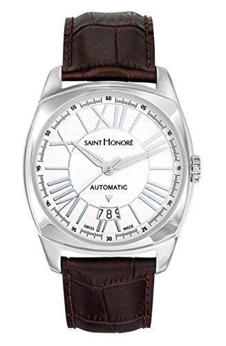Saint Honoré Herren Analog Automatik Uhr mit Leder Armband 8970161ARAN