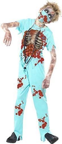 Childs sanglant Médecin Costume 7-9 ans-Déguisement Enfants Halloween Effrayant