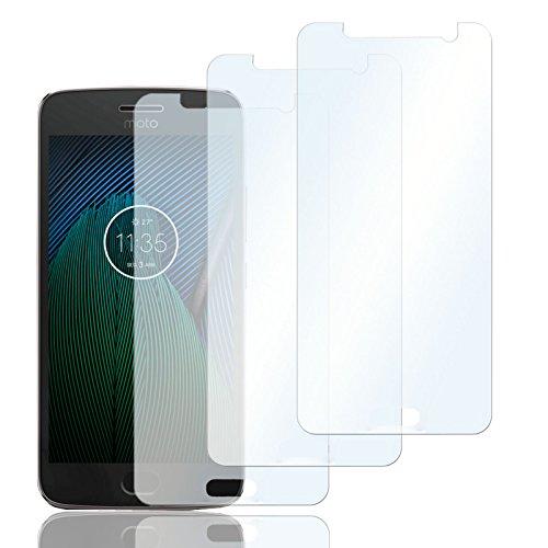 3x Schutzfolien für Motorola Moto G5 Plus| Folie Bildschirmschutz | Selbstklebende Bildschirmfolie klar | Handy Folie rückstandlos entfernbar | dünne Bildschirmschutzfolie Crystal clear Film Screen Protector