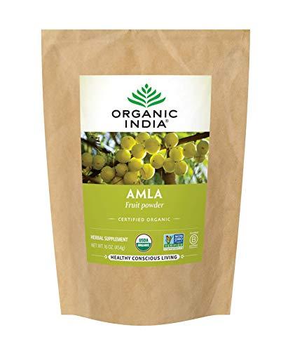 Organic India Amalaki Herbal Powder - Immune Support, Vitamin C for Immune System, Vegan, Gluten-Free, Kosher, Ayurvedic Superfood, Antioxidants, USDA Certified Organic, Non-GMO - 1 lb Bag
