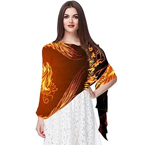 Fénix Écharpe Infinity Lightweight Long Sheer Wrap Shawl pour femme