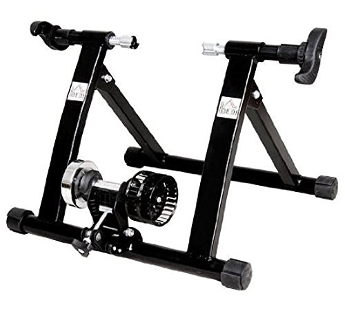 HOMCOM Rollentrainer Fahrradtrainer Indoor Fahrrad Heimtrainer klappbar Magnetbremse 26