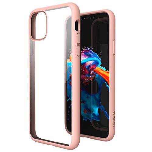 ZUSLAB Tough Fusion Funda Carcasa Compatible con Apple iPhone 11 Pro MAX A Prueba de choques Dura Transparente Posterior Cubrir - Rosado