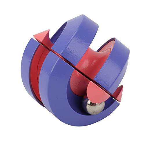 Zegeey Dekompressions-Fingerspitzen-Murmeln umkreisen Rubik's Cube-Spielzeug Intelligence Fingertip Zauberwürfel Lernspielzeug Gyroskop Puzzle Cube Dekompression Spielzeug für Kinder Erwachsene
