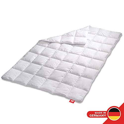 Medicate Allergiker Ganzjahresdecke 135 x 200 cm, klimaregulierende Bettdecke aus Mikrofaser, Decke Kochfest waschbar 95°C, Herstellung in Deutschland