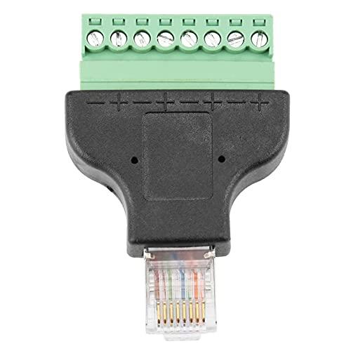 Conector de enchufe de cabeza RG-45 Moldeado de plástico Ethernet RG-45 Adaptador macho Cabeza de interfaz de red para cable trenzado CAT5 CAT5E Cable trenzado CAT6