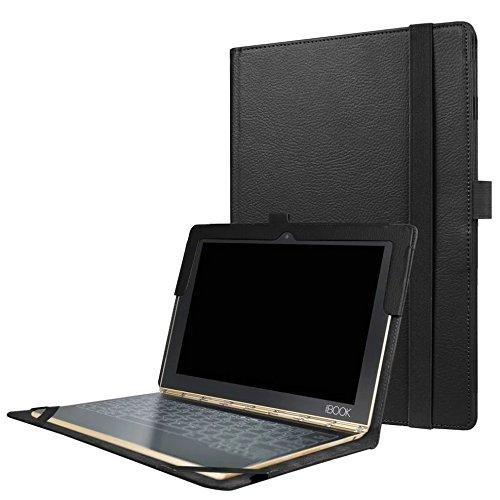 Borse per Lenovo Yoga Book 2016 YB1-X91L 10.1 Pollice Smart Slim Case Book Cover Stand Flip X91 (Nero) NUOVO