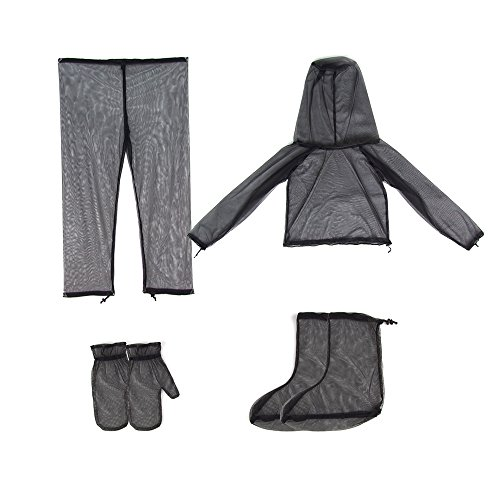 Set Protection Anti Moustique Pantalon Veste Maille Camping Protecteur - M
