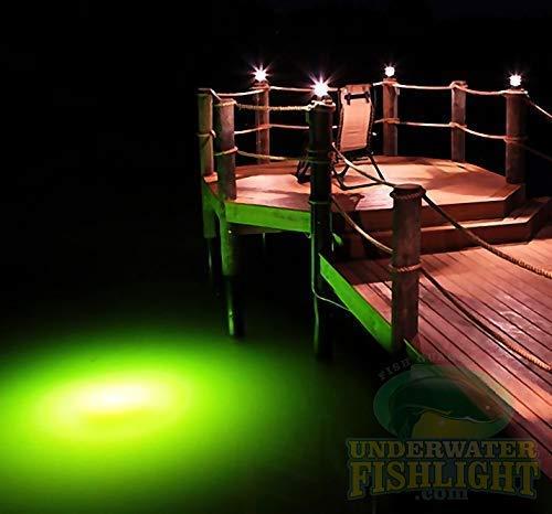 Underwater Fish Light Classic Natural Green Dock Light System