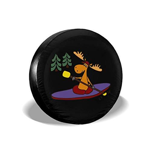 GOSMAO Fundas para neumáticos para fanáticos de los Deportes, para Kayak, Moose, Universal, para Ruedas de Repuesto, aptas para remolques, caravanas, SUV y Muchos vehículos de 16 Pulgadas