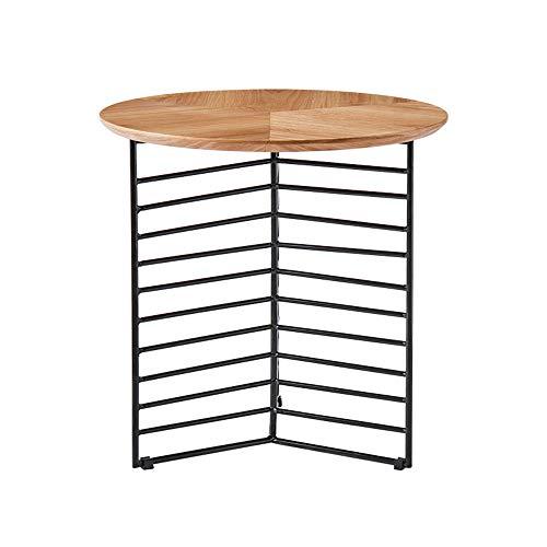 Desks DD bijzettafel, metalen kleine koffietafel, ronde smeedijzer 3 hoek rek -werkbank